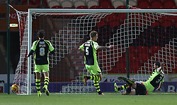 Doncaster Rovers' Federico Macheda scores the first goal-- Photo mandatory by-line: Matt Bunn/JMP - Tel: Mobile: 07966 386802 22/11/2013 - SPORT - Football - Doncaster - Keepmoat Stadium - Doncaster Rovers v Yeovil Town - Sky Bet Championship