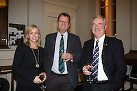 Patricia Greene Volvo Car  Ireland, Harry Hermon CEO of the ISA, Peter Shearer Wicklow Sailing Club  at the launch of 18th Volvo 2016 Round Ireland Yacht Race which was held in the Royal Irish Yacht Club.<br />