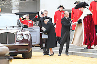 Queen Elizabeth; Prince Philip Duke Of Edinburgh, Baroness Margaret Thatcher funeral guests, St Paul's Cathedral, London UK, 17 April 2013, (Photo by Richard Goldschmidt)