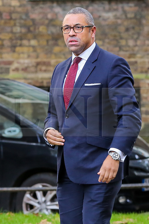 © Licensed to London News Pictures. 16/10/2019. London, UK. Conservative Party Co-Chair JAMES CLEVERLY arrives in Downing Street to attend the weekly cabinet meeting. This week's cabinet meeting was postponed by one day on Tuesday 15 October amid a final push for a Brexit agreement that can be sealed in time for the European Council summit in Brussels on Thursday and Friday. Photo credit: Dinendra Haria/LNP