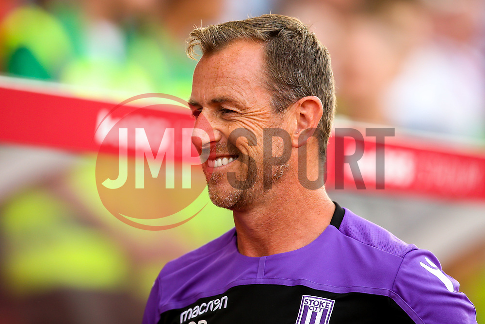 Stoke City manager Gary Rowett - Mandatory by-line: Robbie Stephenson/JMP - 25/07/2018 - FOOTBALL - Bet365 Stadium - Stoke-on-Trent, England - Stoke City v Wolverhampton Wanderers - Pre-season friendly