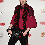 Lewis-Duncan Weedon attends Briefs: Close Encounters - press night an All-male 'Boylesque' group show off their circus skills, drag acts and raucous comedy routines at The Spiegeltent Leicester Square on 14 November 2018, London, UK.