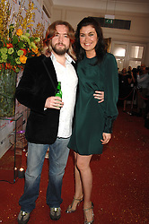 TV presenters AMANDA LAMB and JUSTIN LEE COLLINS at the Galaxy British Book Awards 2007 - The Nibbies held at the Grosvenor house Hotel, Park Lane, London on 28th March 2007.<br />