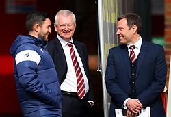 Bristol City head coach Lee Johnson, Bristol City majority shareholder Steve Lansdown and Bristol City chief operating officer Mark Ashton - Mandatory by-line: Robbie Stephenson/JMP - 30/03/2018 - FOOTBALL - Oakwell Stadium - Barnsley, England - Barnsley v Bristol City - Sky Bet Championship