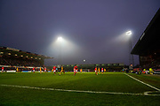 Swindon Town v Port Vale action on the pitch during the EFL Sky Bet League 2 match between Swindon Town and Port Vale at the County Ground, Swindon, England on 25 January 2020.