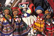 Dolls for sale at Sunday market  Chinchero, Peru