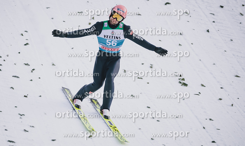 31.12.2019, Olympiaschanze, Garmisch Partenkirchen, GER, FIS Weltcup Skisprung, Vierschanzentournee, Garmisch Partenkirchen, Qualifikation, im Bild Pius Paschke (GER) // Pius Paschke of Germany during his qualification Jump for the Four Hills Tournament of FIS Ski Jumping World Cup at the Olympiaschanze in Garmisch Partenkirchen, Germany on 2019/12/31. EXPA Pictures © 2019, PhotoCredit: EXPA/ JFK