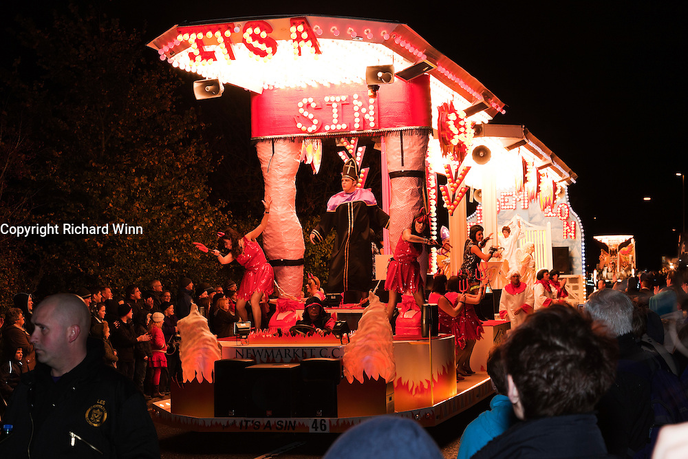 It's a Sin by Newmarket CC at North Petherton Guy Fawkes Carnival 2010.
