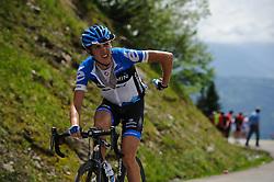 Dan Martin on the top of the Col de la Joux Plane during stage 6 of the Criterium du Dauphine. Photo by Simon Parker/SPactionimages