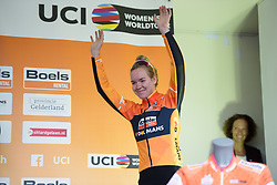 Anna van der Breggen takes to the stage at Boels Rental Ladies Tour Stage 5 a 141.8 km road race from Stamproy to Vaals, Netherlands on September 2, 2017. (Photo by Sean Robinson/Velofocus)