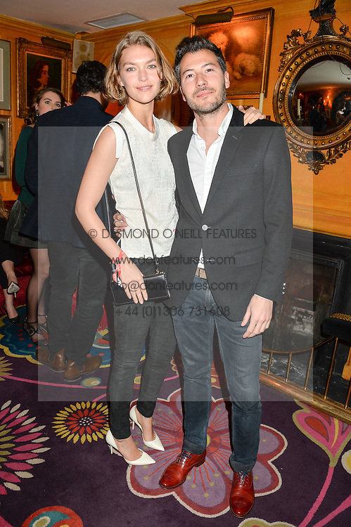 ARIZONA MUSE and BONIFACE VERNEY-CARRON at an exclusive performance by Mark Ronson at Annabel's, Berkeley Square, London on 2nd March 2016.