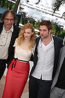 Sarah Gadon, Robert Pattinson, , Cosmopolis photocall at the 65th Cannes Film Festival France. Cosmopolis is directed by David Cronenberg and based on the book by writer Don Dellilo.  Friday 25th May 2012 in Cannes Film Festival, France.
