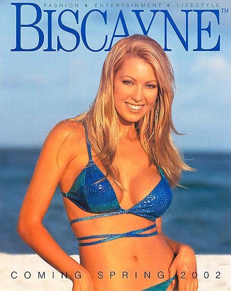 Model in bikini on beach portrait