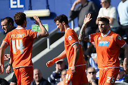 Blackpool's forward David Goodwillie celebrates scoring a goal - Photo mandatory by-line: Mitchell Gunn/JMP - Tel: Mobile: 07966 386802 29/03/2014 - SPORT - FOOTBALL - Loftus Road - London - Queens Park Rangers v Blackpool - Championship