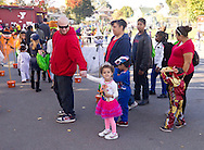 Middletown, New York  - Children line up for a costume contest during the Halloween Fall Festival at the Middletown YMCA's Center for Youth Programs on Oct. 25, 2014.