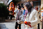A Himalayan Oracle looks at the Deity as he enters Raghunath Temple at Kullu. Kullu Dussehra is the Dussehra festival observed in the month of October in Himachal Pradesh state in northern India. It is celebrated in the Dhalpur maidan in the Kullu valley. Dussehra at Kullu commences on the tenth day of the rising moon, i.e. on 'Vijay Dashmi' day itself and continues for seven days. Its history dates back to the 17th century when local King Jagat Singh installed an idol of Raghunath on his throne as a mark of penance. After this, god Raghunath was declared as the ruling deity of the Valley. Hindu Festival of Kullu Dussehra in the Himalayan Town of Kullu, Himachal Pradesh