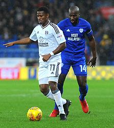 Floyd Ayite of Fulham under pressure from Souleymane Bamba of Cardiff City- Mandatory by-line: Nizaam Jones/JMP- 26/12/2017 -  FOOTBALL - Cardiff City Stadium - Cardiff, Wales -  Cardiff City v Fulham - Sky Bet Championship