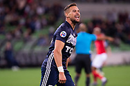 MELBOURNE, AUSTRALIA - APRIL 23: Jai Ingham (23) of Melbourne Victory celebrates after scoring during the AFC Champions League Group Stage match between Melbourne Victory and Guangzhou Evergrande at AAMI Park on April 23, 2019 in Melbourne, Australia. (Photo by Speed Media/Icon Sportswire)