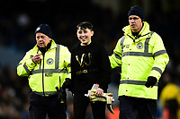 Football - 2018 International Friendly - Italy vs. Argentina<br /> <br /> A fan is escorted from the pitch after asking Willy Caballero of Argentina for his gloves, at the Etihad.<br /> <br /> COLORSPORT/RICHARD MARTIN-ROBERTS