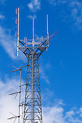 mobile radio base station antennas on  lattice tower