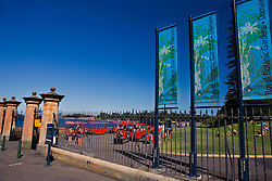 Queen Elizabeth II gate to the Royal Botanic Garden, Sydney, New South Wales, Australia