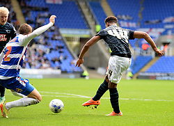 Derby County's Jordan Ibe scores.  - Photo mandatory by-line: Alex James/JMP - Mobile: 07966 386802 - 18/10/2014 - SPORT - Football - Reading - Madejski Stadium - Reading v Derby County - Sky Bet Championship