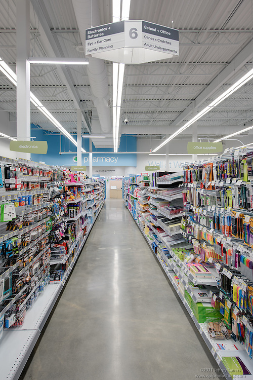 Edison NJ Walgreen Store Interior image by Jeffrey Sauers of Commercial Photographics, Architectural Photo Artistry in Washington DC, Virginia to Florida and PA to New England