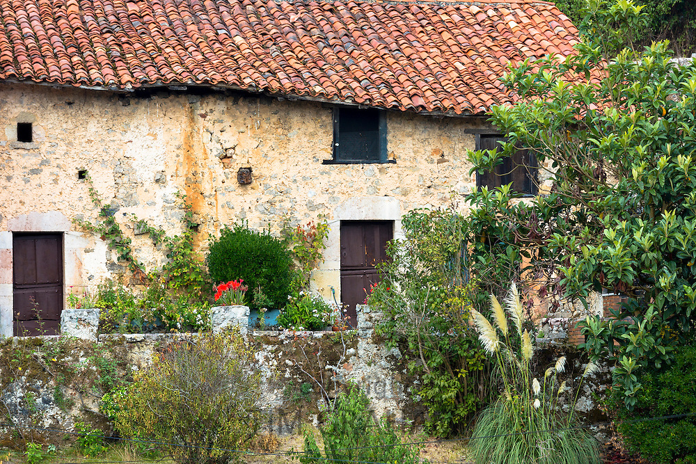 Traditional mountain village home in Picos de Europa in Asturias, Northern Spain