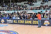 DESCRIZIONE : Trento Beko All Star Game 2016<br /> GIOCATORE : Valerio Bianchini Dan Peterson<br /> CATEGORIA : Premiazione Premio Commemorazione Cerimonia Award Postgame<br /> EVENTO : Beko All Star Game 2016<br /> GARA : Dolomiti Energia All Star Team - Cavit All Star Team<br /> DATA : 10/01/2016<br /> SPORT : Pallacanestro <br /> AUTORE : Agenzia Ciamillo-Castoria/L.Canu