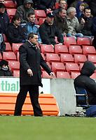 Photo: Mark Stephenson/Sportsbeat Images.<br /> Stoke City v Watford. Coca Cola Championship. 09/12/2007.Watford manager Adrian Boothroyd
