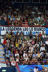STRISCIONE PER ELEONORA LO BIANCO<br /> ITALIA - AZERBAIJAN<br /> CAMPIONATI MONDIALI VOLLEY FEMMINILE 2014<br /> BARI 01-10-2014<br /> FOTO GALBIATI - RUBIN