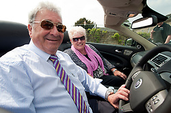 Hatfields Jaguar Ride and Drive event at the Cavendish Hotel Baslow Derbyshire Jeff and Marj Worsley.5th May 2011.Images © Paul David Drabble