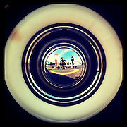 Whitewall and shiny Ford hubcap. iPhone image with Instagram app.(Sam Lucero photo)