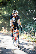 A cyclist at the 2015 Tour d'Organics in Sebastopol California