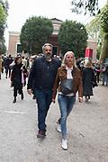 KEITH TYSON, ELIZABETH MURDOCH, Opening of the Venice Biennale, Venice, 8 May 2019