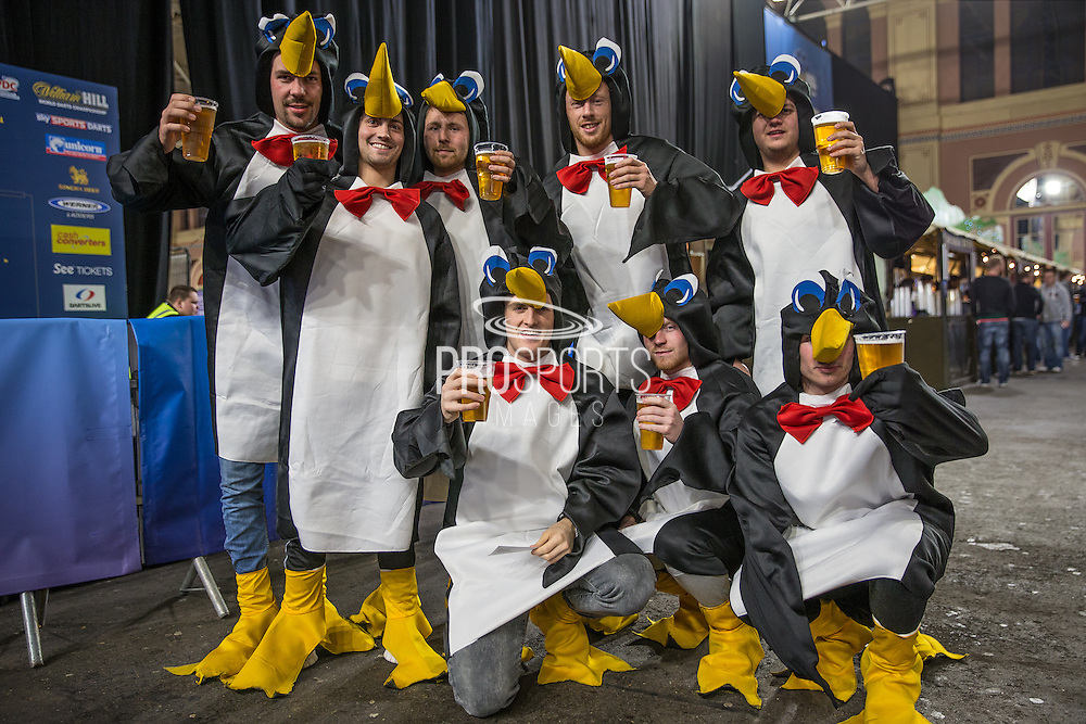 Fans in fancy dress during the World Darts Championship at Alexandra Palace, London, United Kingdom on 23 December 2015. Photo by Shane Healey.