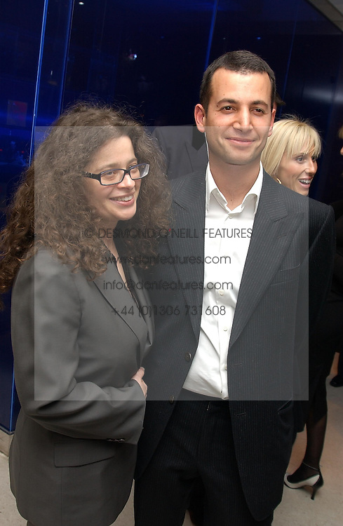 MATTHEW SLOTOVER and AMANDA SHARP at a dinner hosted by Cartier to celebrate the opening of the 2004 Frieze Art Fair, held at Yauacha 15-17 Broadwick Street, London W1 on 13th October 2004.<br />