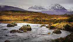 Snow covered mountains on the edge of Rannoch Moor near Glencoe, Scotland<br /> <br /> (c) Andrew Wilson | Edinburgh Elite media