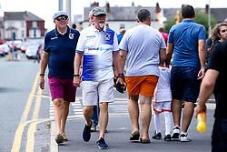 Bristol Rovers fans arrive at Blackpool - Mandatory by-line: Robbie Stephenson/JMP - 03/08/2019 - FOOTBALL - Bloomfield Road - Blackpool, England - Blackpool v Bristol Rovers - Sky Bet League One