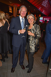 28 January 2020 - Michael Buerk and his wife Christine at the Costa Book Awards 2019 held at Quaglino's, 16 Bury Street, London.<br /> <br /> Photo by Dominic O'Neill/Desmond O'Neill Features Ltd.  +44(0)1306 731608  www.donfeatures.com