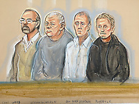 Defendants Left to right<br />