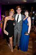 NATALIE ANDREOU; LUKE KEMPNER; NIAMH PERRY, South Pacific First night party. The Barbican. London. 23 August 2011. <br /> <br />  , -DO NOT ARCHIVE-© Copyright Photograph by Dafydd Jones. 248 Clapham Rd. London SW9 0PZ. Tel 0207 820 0771. www.dafjones.com.