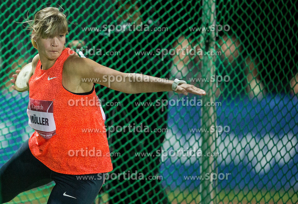 Nadine Mueller of Germany competes in Discus Throw Women during IAAF World Challenge Zagreb - The 65th Hanzekovic Memorial Meeting, on September 8, 2015, in Stadium Mladost, Zagreb, Croatia. Photo by Vid Ponikvar / Sportida
