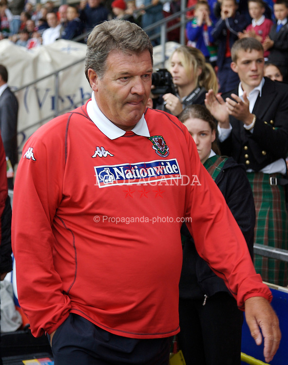 Wrexham, Wales - Saturday, May 26, 2007: Wales' manager John Toshack walks out to face New Zealand during the International Friendly match at the Racecourse Ground. (Pic by David Rawcliffe/Propaganda)