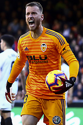 December 23, 2018 - Valencia, Spain - Norberto Neto of Valencia CF  reacts  during  spanish La Liga match between Valencia CF vs SD Hueca at Mestalla Stadium on December 23, 2018. (Photo by Jose Miguel Fernandez/NurPhoto) (Credit Image: © Jose Miguel Fernandez/NurPhoto via ZUMA Press)