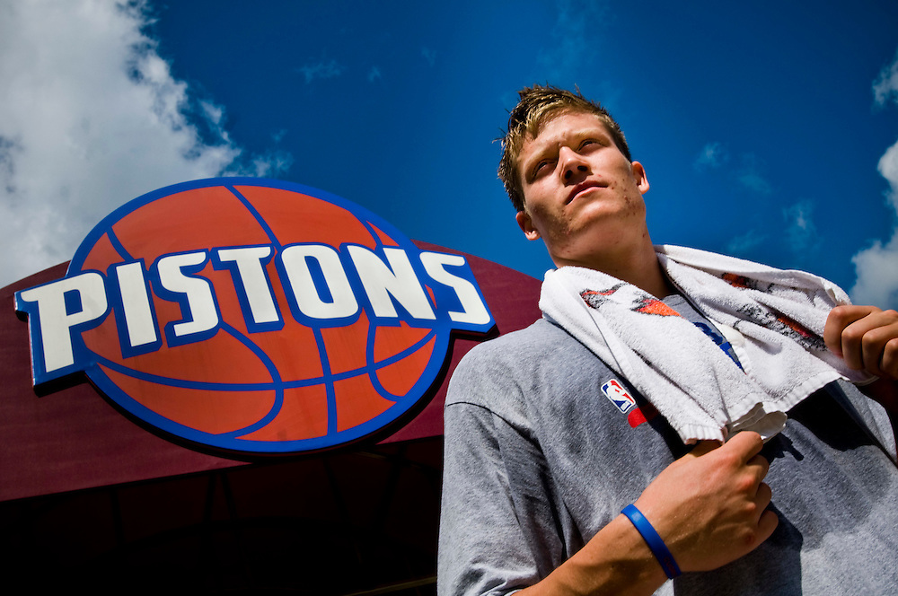 Jonas Jerebko, swedish basketball player of the Detroit Pistons..Photographer: Chris Maluszynski /MOMENT
