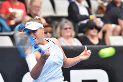 January 6, 2018 - Auckland, Auckland, New Zealand - Sofia Kenin of USA plays a forehand in her Quarter-final match against  Caroline Wozniacki of Denmark  during the WTA Women's Tournament at ASB Centre Count in Auckland, New Zealand on Jan 6, 2018. (Credit Image: © Shirley Kwok/Pacific Press via ZUMA Wire)
