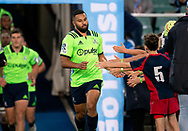 SYDNEY, NSW - MAY 19: Highlanders run out at week 14 of the Super Rugby between The Waratahs and Highlanders at Allianz Stadium in Sydney on May 19, 2018. (Photo by Speed Media/Icon Sportswire)