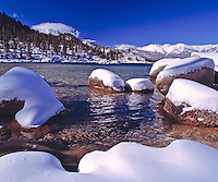 Lake Tahoe Landscape Winter Rocks