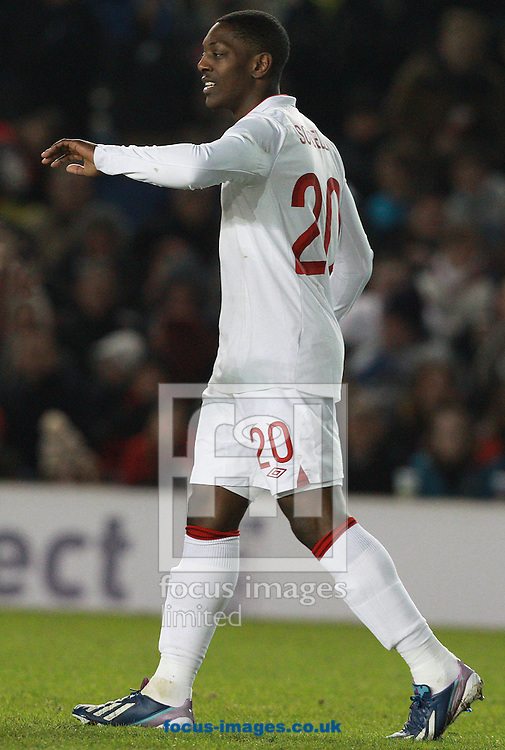 Picture by Paul Terry/Focus Images Ltd +44 7545 642257.25/03/2013.Marvin Sordell of England celebrates after he scores to make it 3-0 during the International Friendly match at the American Express Community Stadium, Brighton and Hove.